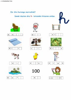 Interactive worksheet H letra erdian