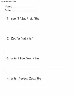 Interactive worksheet Zac Runs