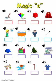 Interactive worksheet Magic -e-