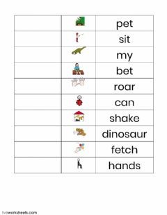 Interactive worksheet I Like My Dinosaur