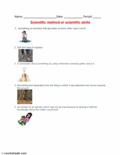 Interactive worksheet Scientific method or scientific skills