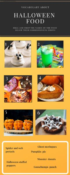 Interactive worksheet Halloween Food