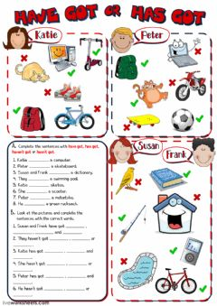 Have got - Has got worksheet preview