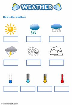 Ficha interactiva Weather and Seasons