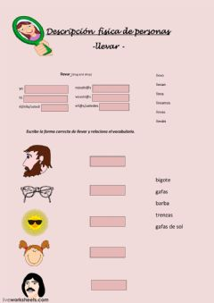 Interactive worksheet Descripción física de personas