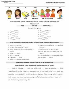 "Ficha interactiva ""To Be"" Practice Worksheet"
