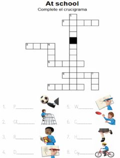 Interactive worksheet Playground. Crossword