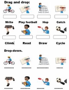 Interactive worksheet Playground. Drag and drop