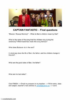 Interactive worksheet Captain Fantastic - final questions