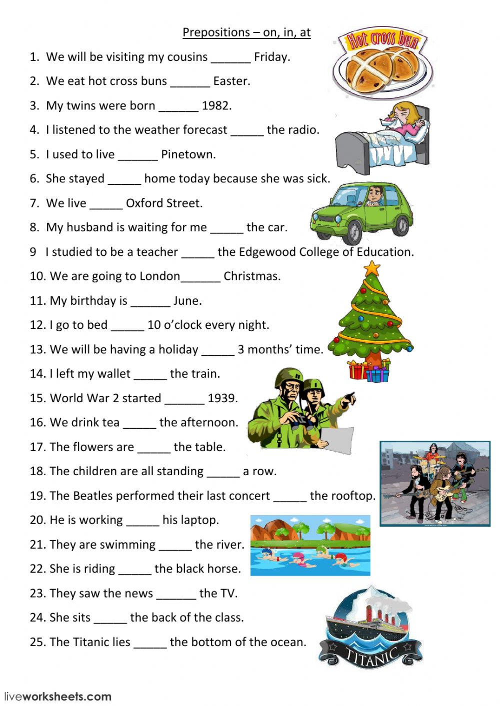 Preposition In Learn In Marathi All Complate: Prepositions Interactive Worksheet