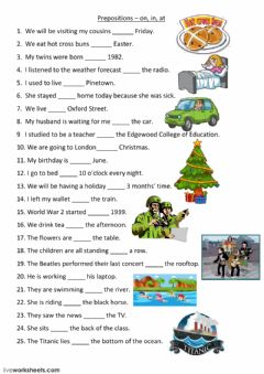 Prepositions worksheet preview