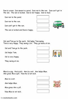 Interactive worksheet Easy Reading Comprehension