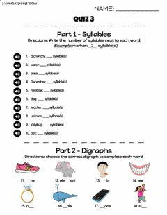 Interactive worksheet Beginning English Quiz 3