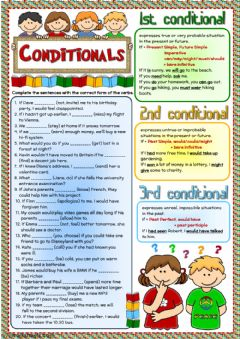 Interactive worksheet Conditionals - revision