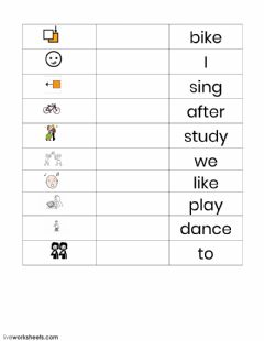 Interactive worksheet After School