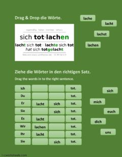 Interactive worksheet Lachen und Personalpronomen