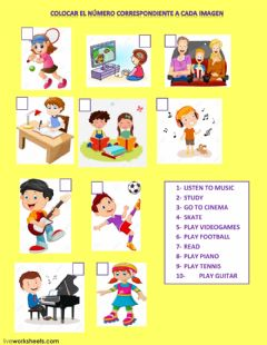 Interactive worksheet Free time