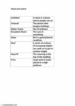 Interactive worksheet Vocabulary exercise spotloght 3a
