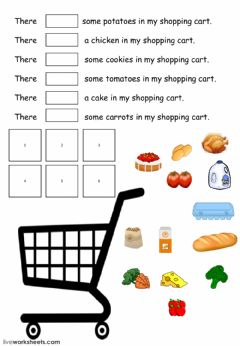 Interactive worksheet What's in my shopping cart?