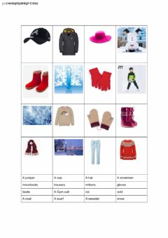 Interactive worksheet Carcare year 2 Autumn things