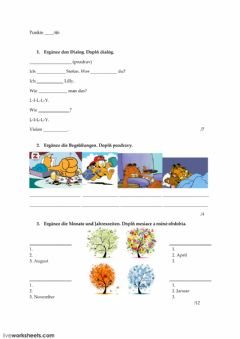 Interactive worksheet Beste Freunde A1.1 Lektion Start