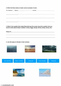 Interactive worksheet Weather and climate