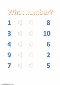 Interactive worksheet Counting to ten