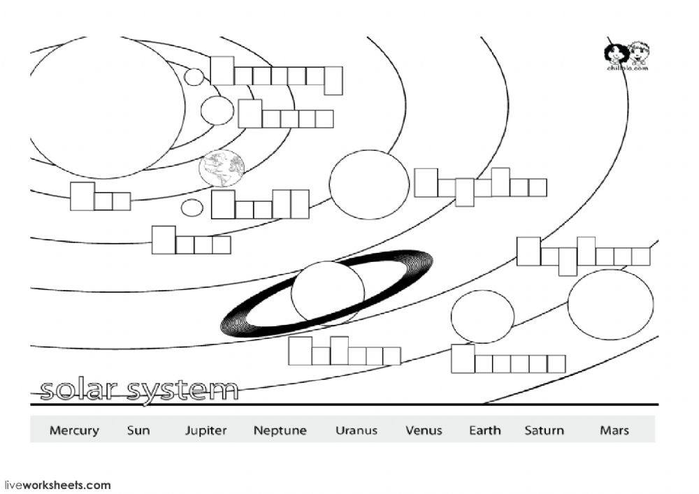 The solar system - Interactive worksheet