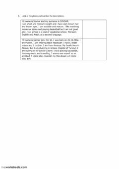 Interactive worksheet 10B Worksheet