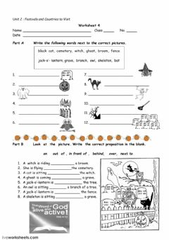 Ficha interactiva Halloween worksheet 4