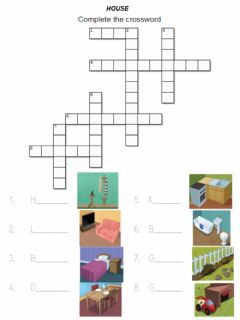 Ficha interactiva House. Crossword