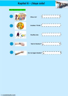 Interactive worksheet Kapitel 6 - uppgift 1 - åk 8