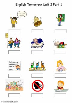 Ficha interactiva English Tomorrow Unit 2