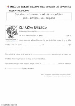 Interactive worksheet Adjetivos - Repaso