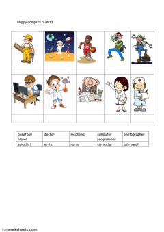 Interactive worksheet Occupation