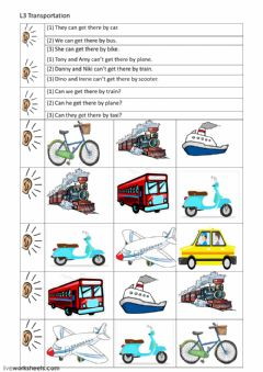 means of transport interactive worksheets. Black Bedroom Furniture Sets. Home Design Ideas