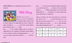 Interactive worksheet Walt disney