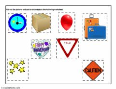 Interactive worksheet Identifying Shapes