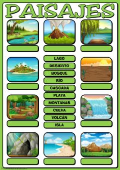 Interactive worksheet Paisajes