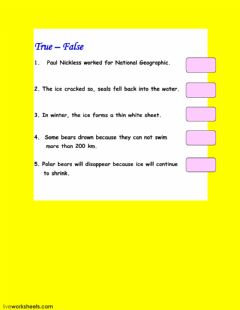 Interactive worksheet On thin ice