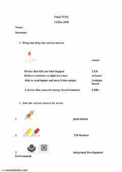 Interactive worksheet Final Exam