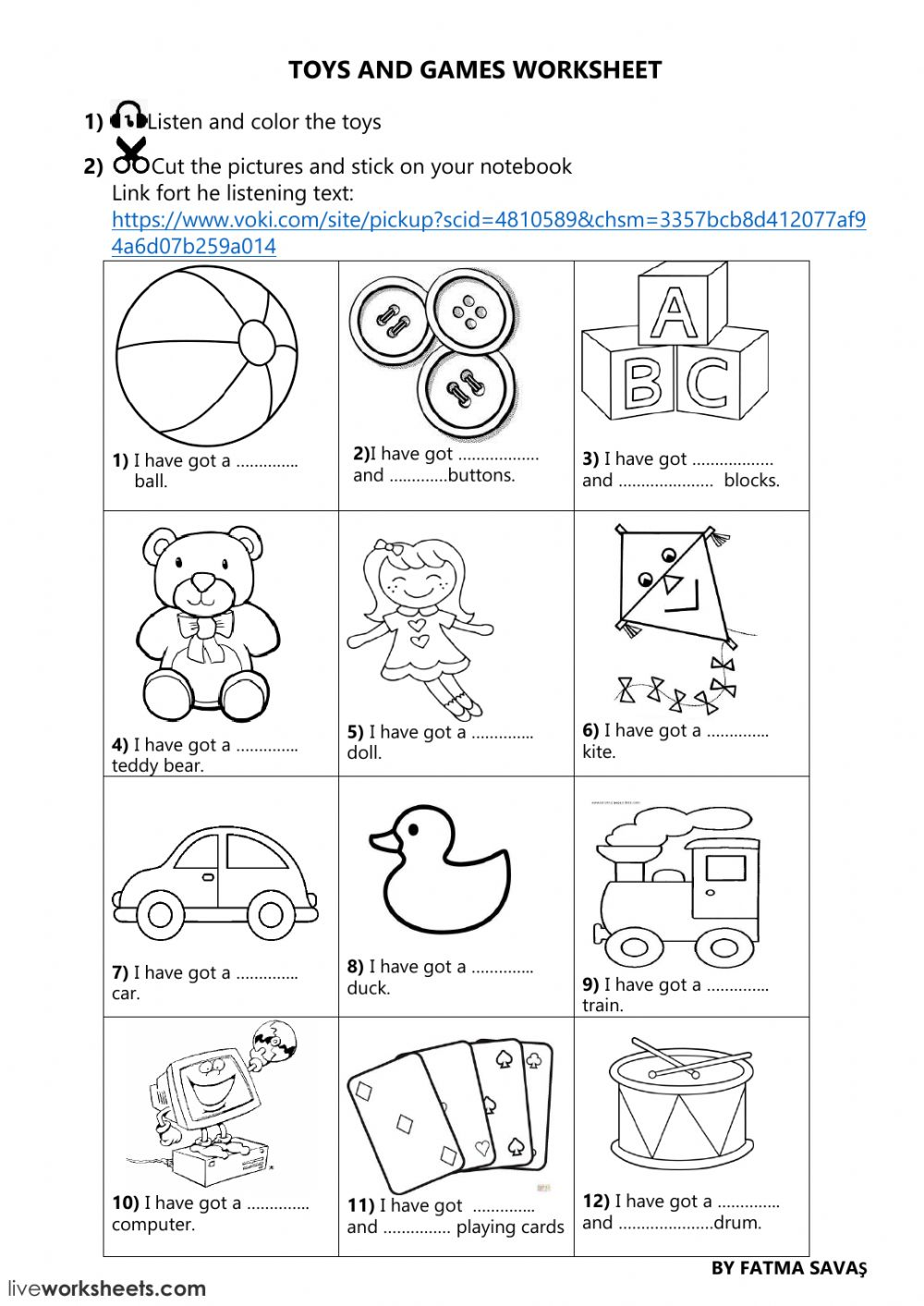 3rd grade unit 5 toys and games online worksheet - Interactive worksheet