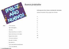 Interactive worksheet Buenos propósitos