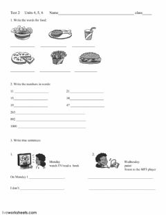 Interactive worksheet Test 2