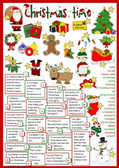 Christmas - definitions worksheet preview