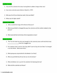 Interactive worksheet Conflicts of Revolutionary War
