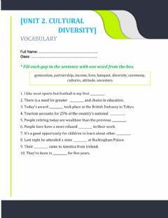 Interactive worksheet Unit 1. gap fill (drag the words)