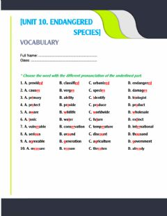 Interactive worksheet Unit 10. pronunciation