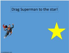 Interactive worksheet Drag drop superman