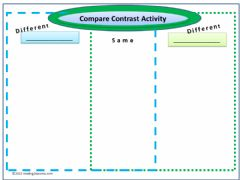 Ficha interactiva Compare-Contrast Worksheet